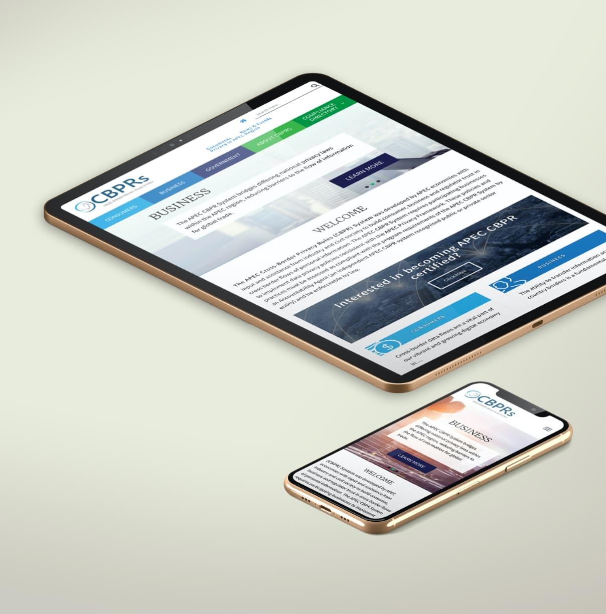 Cross Border Privacy Rules System website design and development using WordPress
