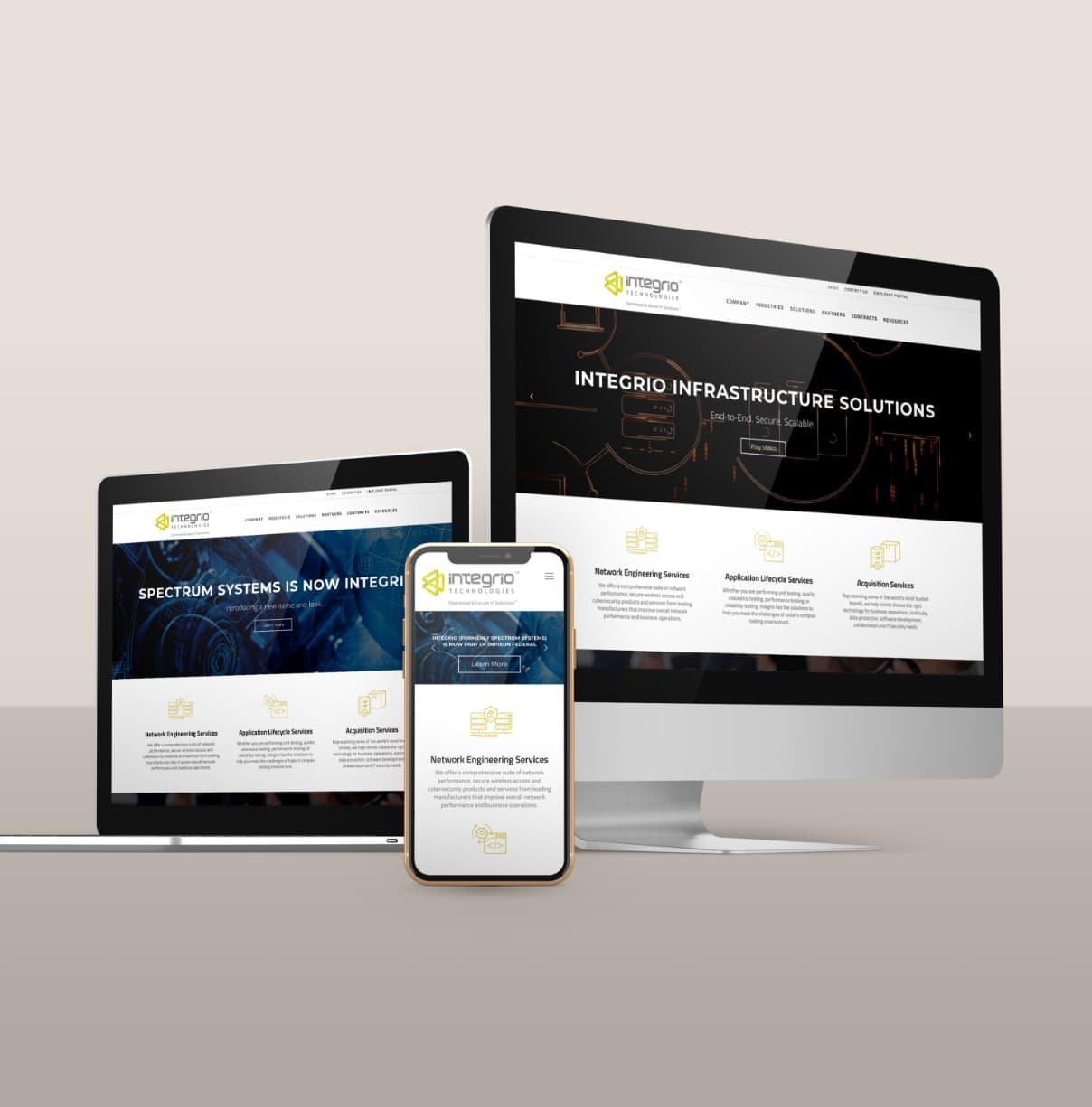 Integrio Technologies website design and development using WordPress