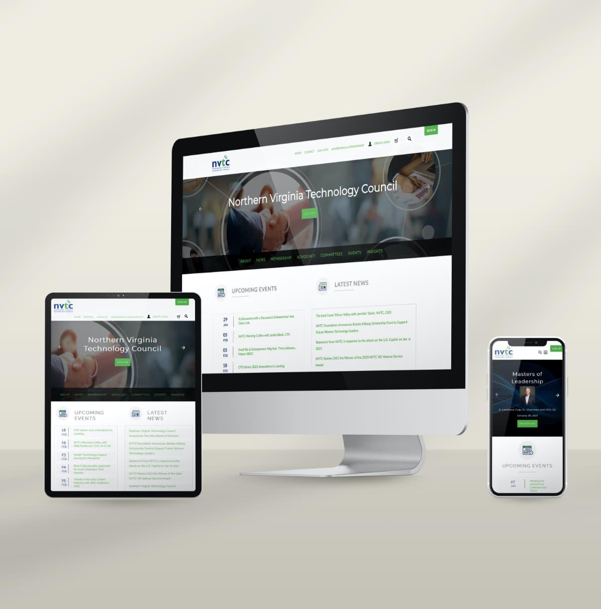 Northern Virginia Technology Council website design and development