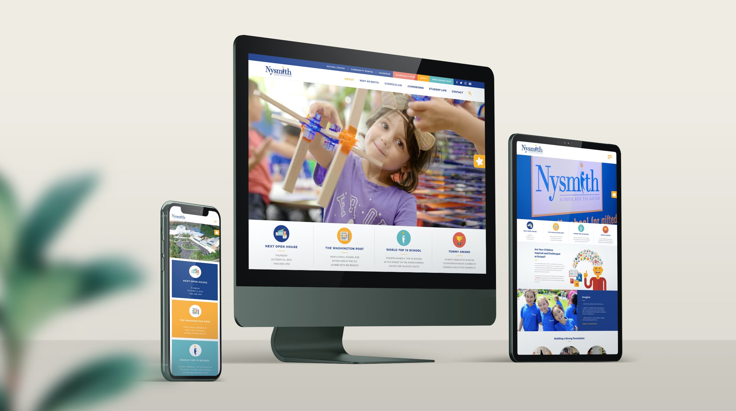 Nysmith School for the Gifted website redesign and development using WordPress