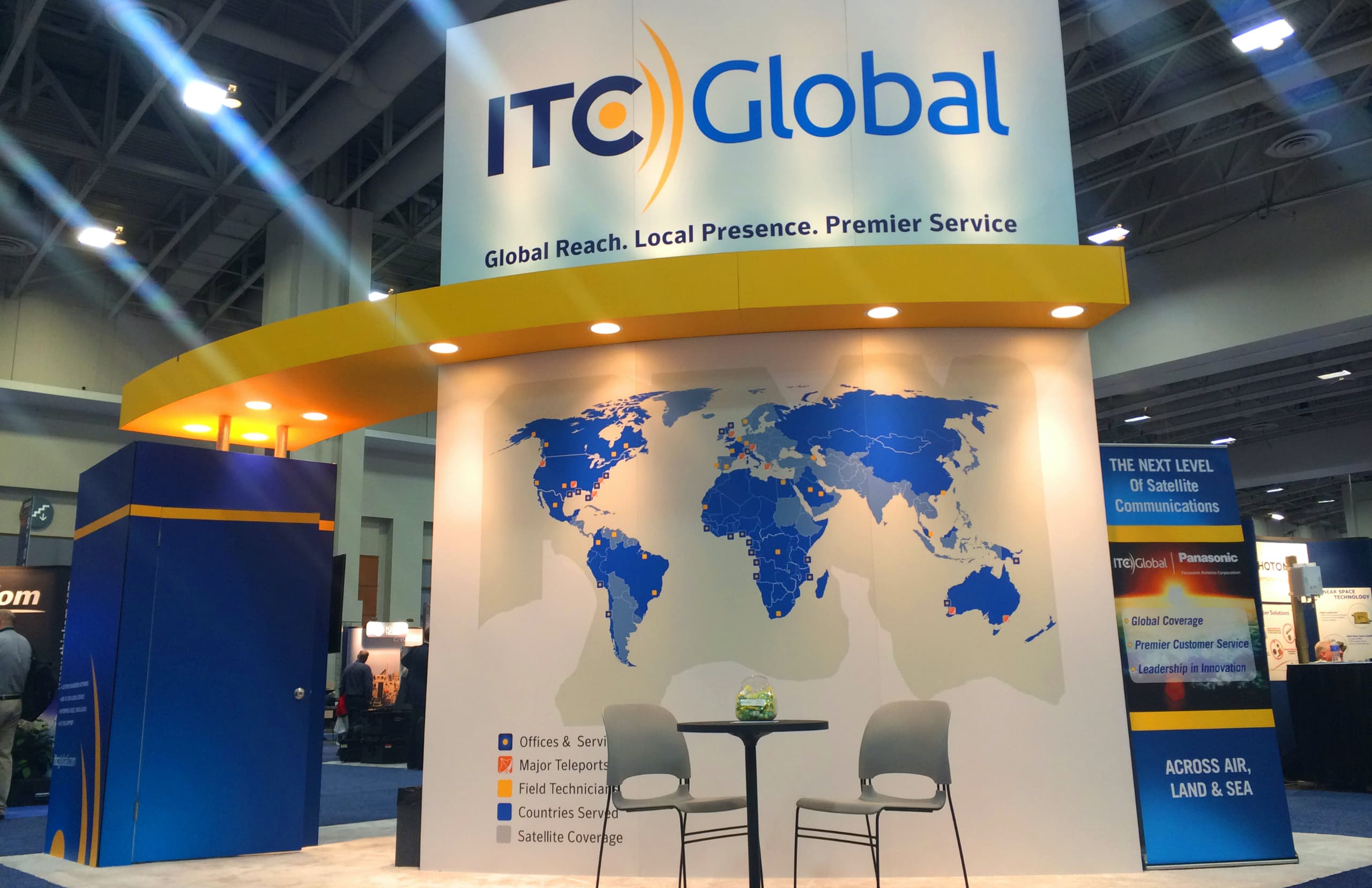 graphic exhibition itc global logo 3d